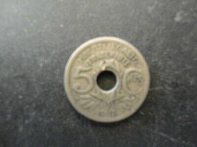 1918 Republic Of France 5 Centimes Coin