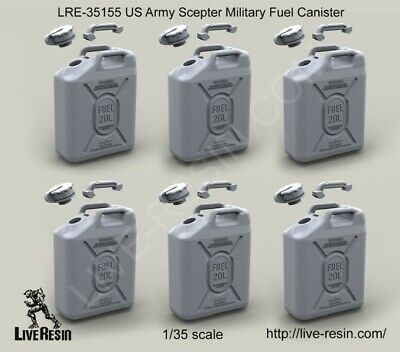 Live Resin 1/35 US Scepter Military Fuel Canisters (6pcs)
