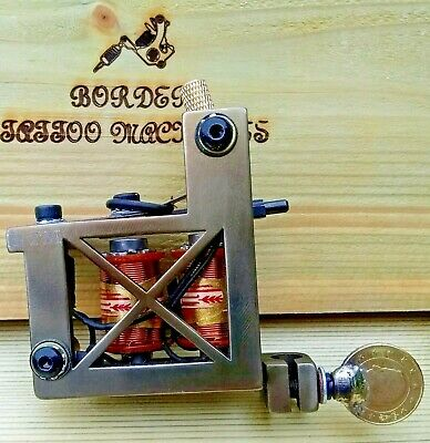 Border Tattoo Machine,Cut-Back Liner,Custom Iron Frame Custom 8 Layer 32Mm Coils