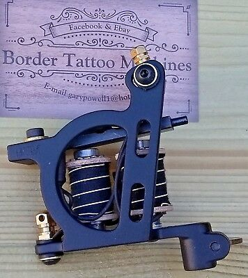 Border Tattoo Machine,Packer / Shader Custom Iron Black Frame 7&Half Layer Coils