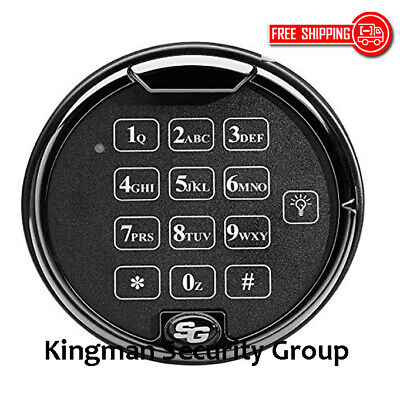 Sargent & Greenleaf S&G 6120-240 Single Battery Keypad - Lighted- Platinum Black