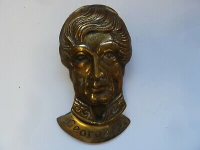 Vintage Brass Door Knocker Royalty George Iv Bel.gt Britain Antique Royal B1