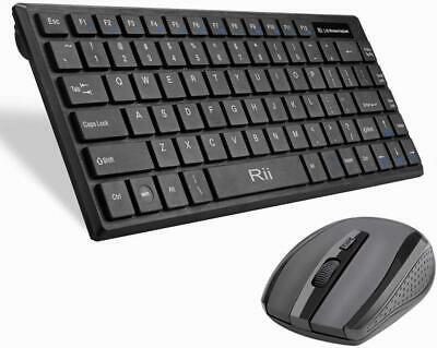 2.4G Ultra-Slim Mini Wireless Mouse and Keyboard Combo for PC Desktop SV Hb