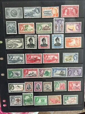 commonwealth british colonial stamps GVI & QEII M/M Selection