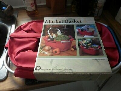 Collapsible Folding Basket In Red BNWT (Laundry, Hamper, Shopping, Storage)