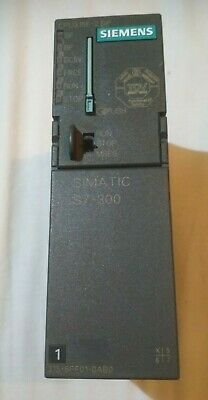 Siemens fail-safe s7-300 plc: 6es7 315-6ff01-0ab0 with 128kB MMC