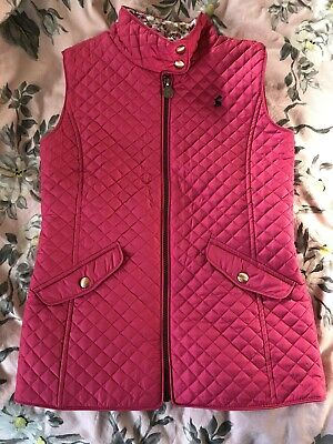 Cosy girls Joules pink quilted gilet Age 11-12 (height 152)