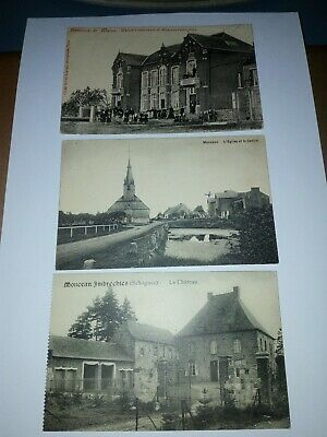 3 cartes postales Monceau-Imbrechies Momignies Chimay