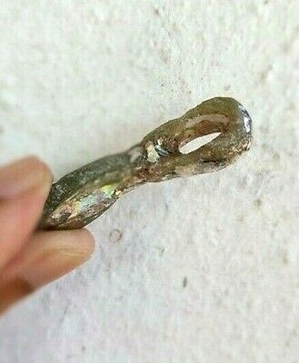 Ancient Roman Glass Pendant Antiques Old Rare Beautiful Bead 1800 + Years