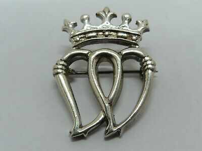 Vintage - Solid Silver - Luckenbooth Brooch