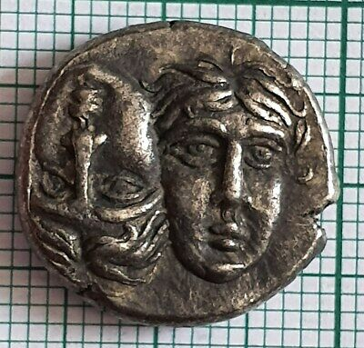 Rare Greek Silver Coin Didrachm , Istros - 5.70 g