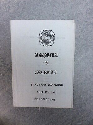 Aspull v Orrell - Lancs Cup 3rd Round - 9th Jan