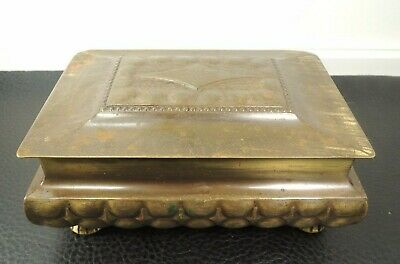 WMF Arts & Crafts Hammered Cigar Cigarette Jewelry Box Art Nouveau Germany 1910
