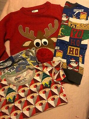 Boys Christmas Jumper & T-Shirt Bundle ~ Age 6 Years NEXT