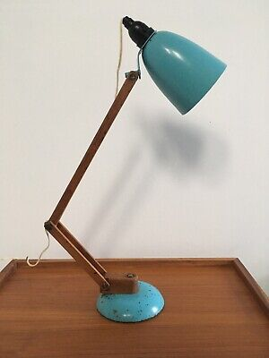 Vintage Mid Century MACLAMP Terence Conran Design Maclamp Desk Lamp Wooden Arms