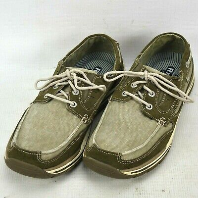 SKECHERS MEN'S SZ 9.5 Relaxed Step Brown Leather Casual