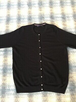 Marks & Spencer Collection Pure Cashmere Ladies Cardigan Size 16 Womens Jumper