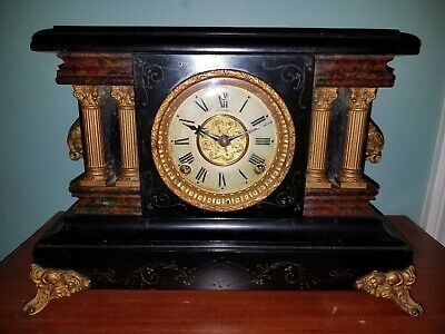 Antique Sessions Mantel Clock - Eight Day, Half Hour Strike, Cathedral Gong