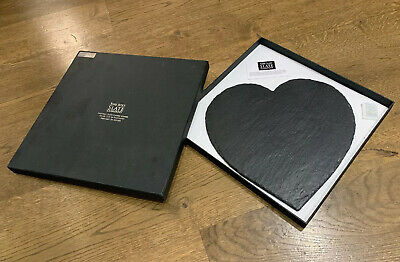 The Just Slate Company Heart Cheese Board. New & Boxed.