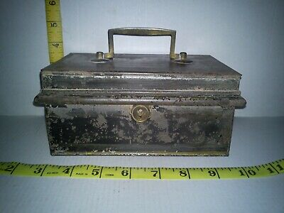 old cash box with removable inner compartments fantastic untouched condition