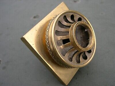 Spare Brass Column Top And Socket Screw For Argand Solar Sinumbra Heavy Oil Lamp