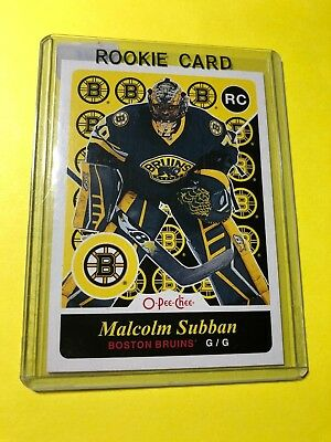 2015-15 O-Pee-Chee Malcolm Subban RC #502 Boston Bruins