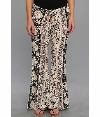 Chaser Women's Printed Silk Tapestry Bells Wide Leg Pants Size Small $139 BCH12