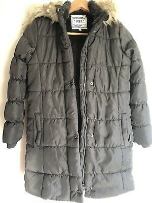 GIRLS QUILTED COAT. MARKS & SPENCERS 9-10 Years VGC