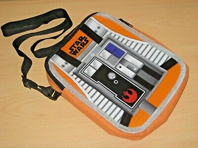 STAR WARS Lunch Bag Box Carry Case Shoulder Strap Orange