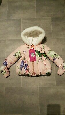 Ted Baker Baby Girls Coat 6-9 Months BNWT Pink Floral