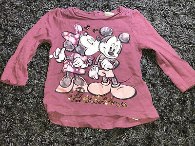 Disney Minnie Mouse Girls Top 9-12 Months