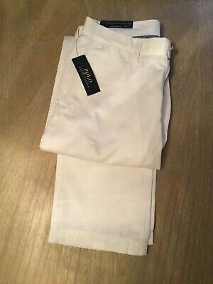 Polo Ralph Lauren Mens White Classic Fit Chino Trousers 30 x 32