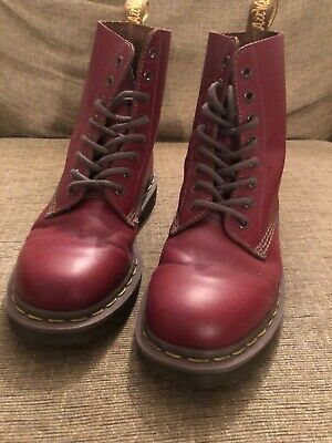 Dr martens 1460 Oxblood Quillon Made In England Boots Size 5.
