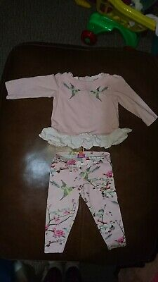 Ted Baker baby Girls Outfit 12-18 months top leggings