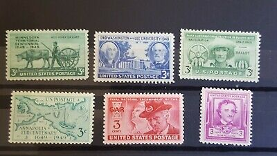 US 1949 Complete Commemorative Year Set OG MNH