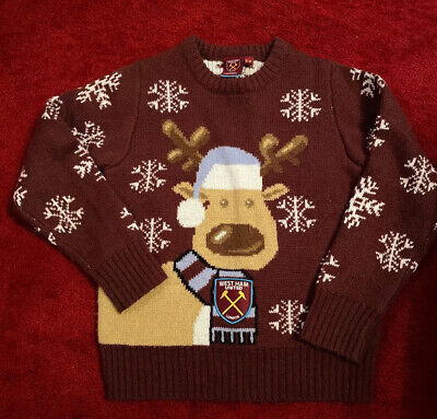 Official West Ham Christmas Jumper Age 5-6