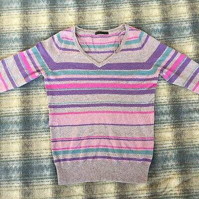 Marks And Spencer Pure Cashmere Ladies Jumper Size 12 UK Womens Sweater Purple