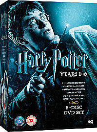 Harry Potter Collection - Years 1-6 (DVD, 2009, 6-Disc Set, Box Set)
