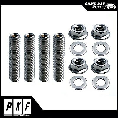 "1 3//4/"" Carburetor Stud Kit Carb Studs Fits Ford Holley Edelbrock 350 383 454"