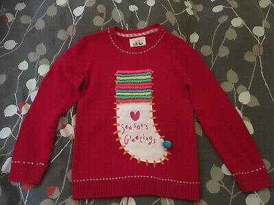 Mothercare Girls Christmas Jumper Age 8 Years