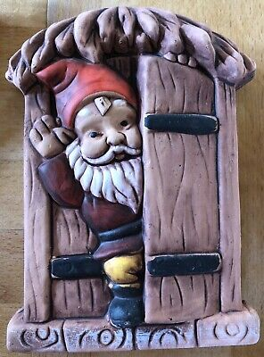 Latex Mould for making this Lovely Santa At Door Plaque