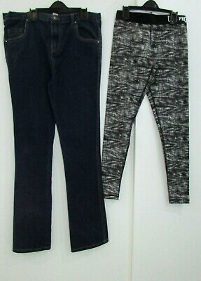 Girls Bundle Age 11-12 Years Jeans & Active Leggings Good Condition Jeans 12 Yea