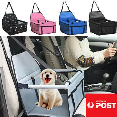 Foldable Pet Dog Car Seat Cover Safe Booster Basket Protector Travel Carrier AU