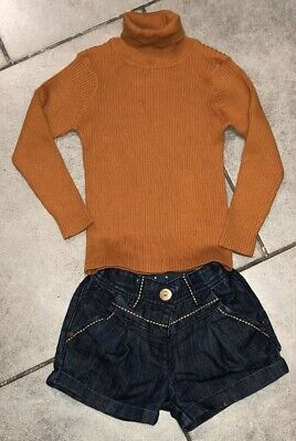 Next Girls Turtleneck... Shorts Outfit 3-4 Years Vgc