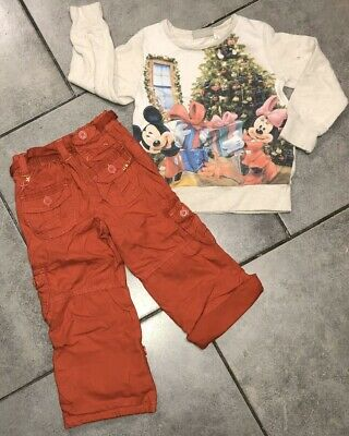 Disney... Next... George Girls Christmas Winter Outfit 3-4 Years