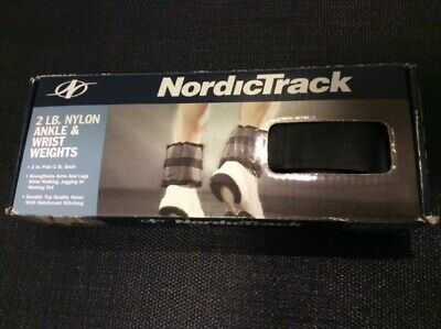 Nylon Ankle & Wrist Weights, 2 lbs Pair (1 lb each), Nordic Track Brand