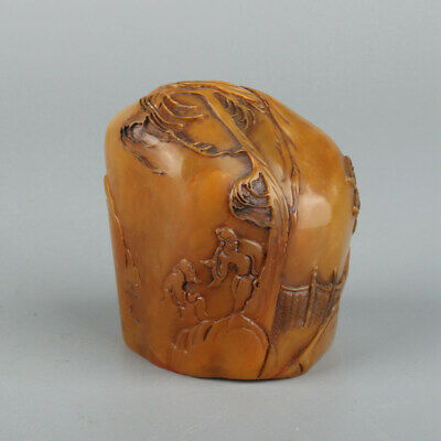 Chinese Exquisite Handmade people carving Shoushan Stone seal