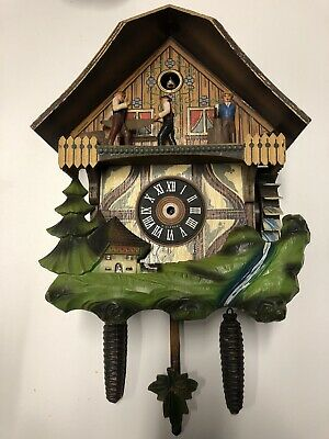 Vintage Schmeckenbecher Cuckoo Clock For Parts West Germany