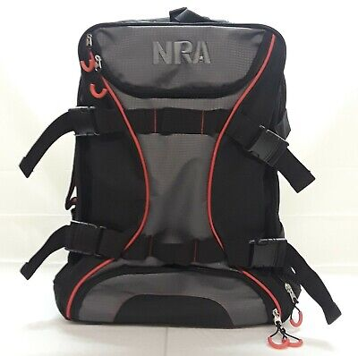 NRA Rolling Carry On Suitcase Travel Bag Luggage Black / Grey Wheels