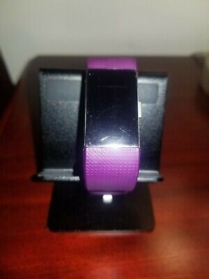 Pre-owned Fitbit Charge 2 Fitness Activity Tracker Plum Size Small
